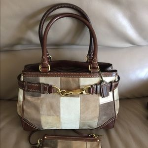 Authentic Coach Patchwork Purse and wallet!!